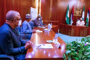 EeqnpaAWoAArwIg 300x200 - Buhari To Take New Action On Lockdown As He Gets Briefing From COVID-19 Task Force