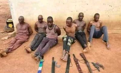 'Fulani Terrorists' Terrorising Southern Kaduna Arrested, Weapons Recovered (Photos)