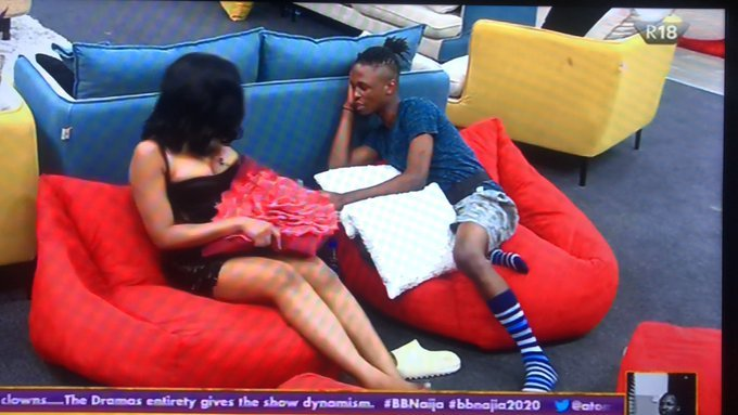 BBNaija: Laycon Professes Love To Erica