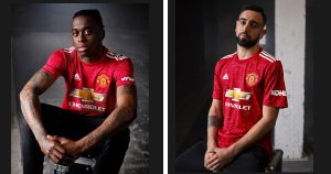 Manchester United jersey ... 300x158 - Manchester United Unveil New 2020-2021 Home Kit