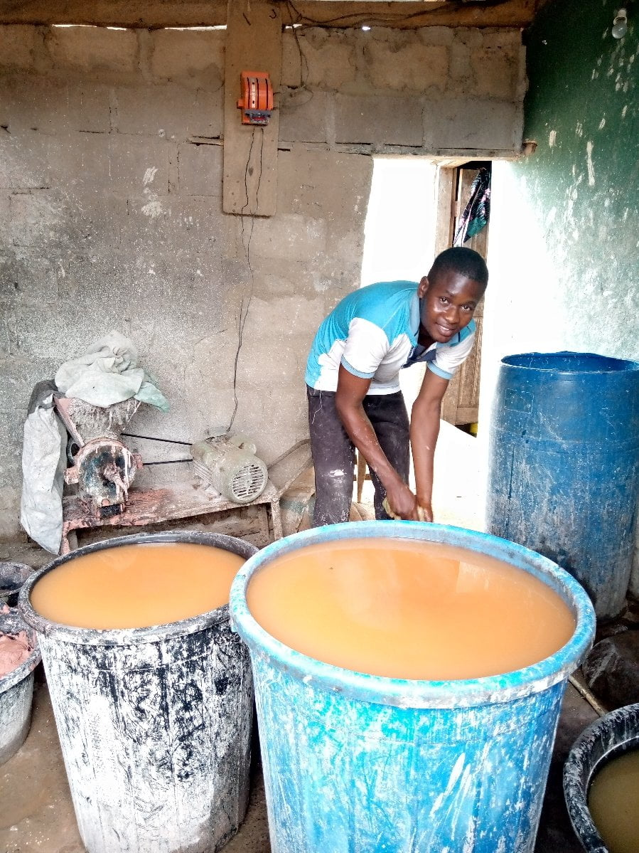 NOUN Student 2 - Meet Nigerian University Student Who Sells Pap To Pay School Fees, Bills – [Photos]