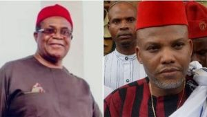 Okwesilieze Nwodo and Nnamdi Kanu 1 300x169 - Biafra: Nwodo Reveals What Nnamdi Kanu Has Done For Igbos