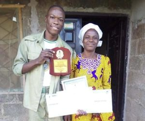 Oluwasayomi 300x250 - Meet Graduate Who Attended 16 Primary Schools, Wrote 17 O'level Exams, And His Widow Mother [Photo]