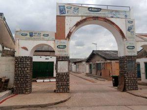 One of the entrances to Sheikh Abubakar Gummi Market in Kaduna
