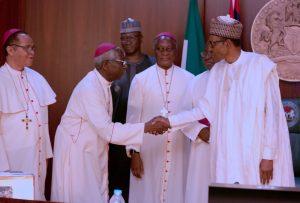 PRESIDENT BUHARI MEETING CATHOLIC BISHOPS 9 300x203 - 'You Have Failed' – Catholic Bishops Bomb President Buhari