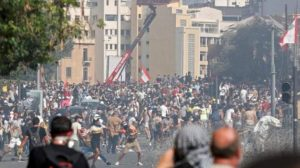 Protesters in Beirut Lebanon 300x168 - Thousands Of Lebanese Protest Against The Country's Politicians