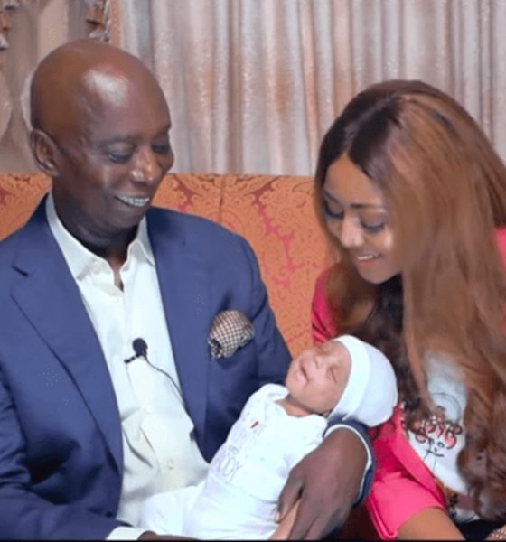 Finally, Regina Daniels And Ned Nwoko Reveal Baby's Face (Video/Photos)