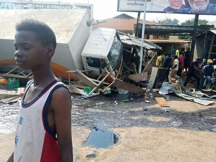 Tanker Accident 1 - Ondo Tanker, Truck Accident Claims A Pregnant Woman And Her Two Kids – [Photos]
