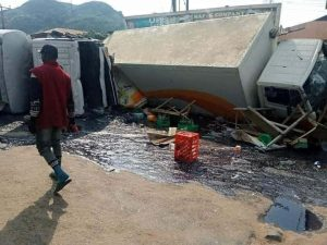 Tanker Accident 2 300x225 - Ondo Tanker, Truck Accident Claims A Pregnant Woman And Her Two Kids – [Photos]