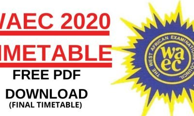 Download WASSCE 2020 Time Table Here