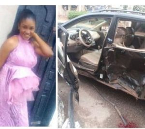 Woman killed during Yahoo Boy chase by Police 300x266 - Woman Killed, Child Injured As Police Chase Suspected 'Yahoo Boy' In Benin [Photo]