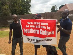 Youth in Southern Kaduna protesting the killings 300x225 - Fulani Militia Killing Us, Capturing Our Villages – Southern Kaduna People