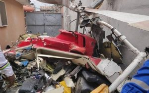 helicopter 300x188 - Helicopter Crashes Into Building In Lagos