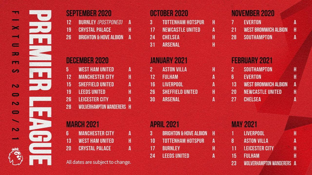 Man Utd Fixtures