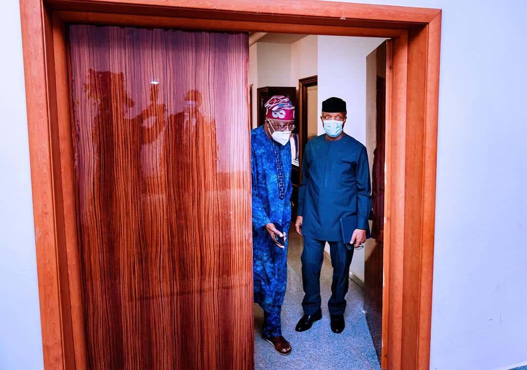 tinubu and osinbajo 2 - Tinubu And Osinbajo Hold Private Meeting In Abuja (Photos)