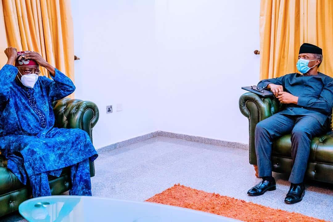 tinubu and osinbajo abuja - Tinubu And Osinbajo Hold Private Meeting In Abuja (Photos)