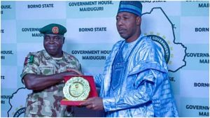 zulum 1024x576 1 300x169 - Boko Haram: Group Attacks Gov. Zulum Over Comment Against Military