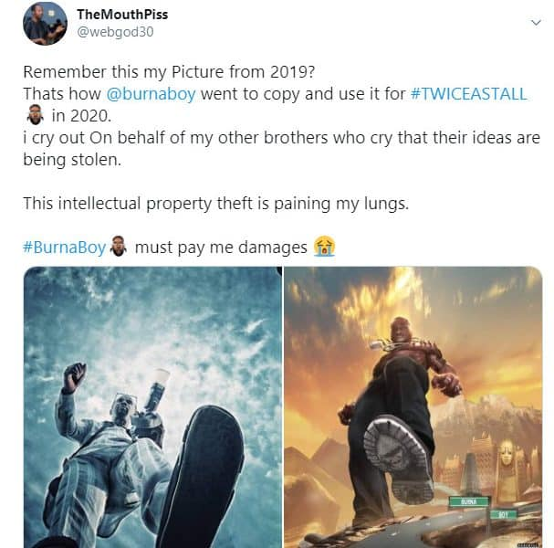 Nigerians Man Accuse Burna Boy Of Intellectual Theft, Demand Payment Of Damages thumbnail