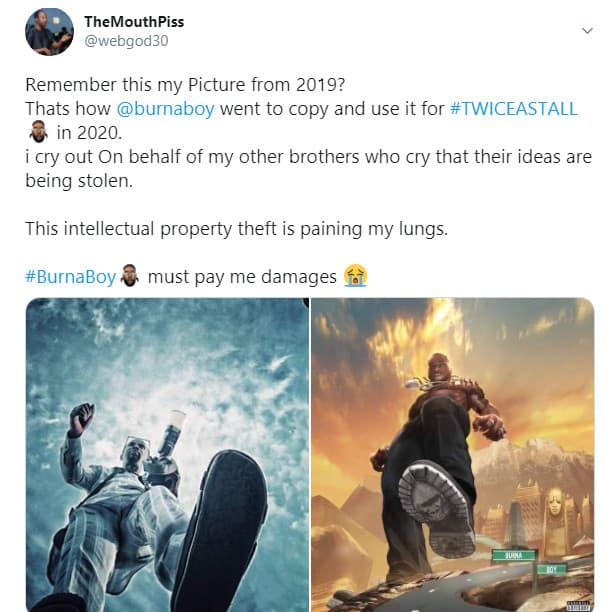 5f4e5e9c6ec7a - Nigerians Man Accuse Burna Boy Of Intellectual Theft, Demand Payment Of Damages