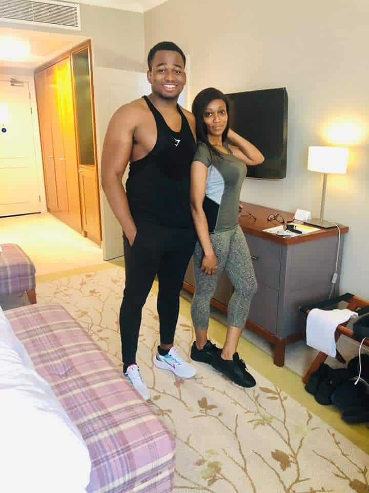 5f4fe2dfa04fd - Check Out Photo Of This Nigerian Mum And Her Son Are Being Mistaken For A Couple