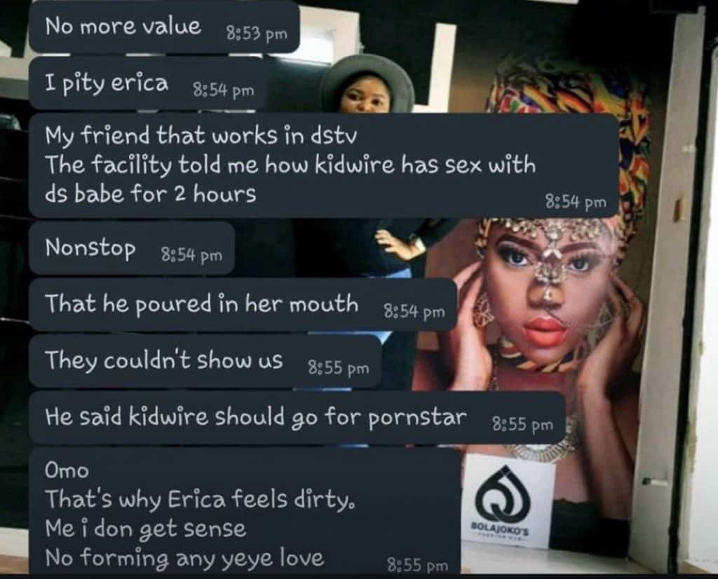 5f50b3afc13c1 1024x826 - Samclef Release Leaked Chat Where Multichoice Staff Confessed That Erica Swallowed Kiddwaya'Sp*rm