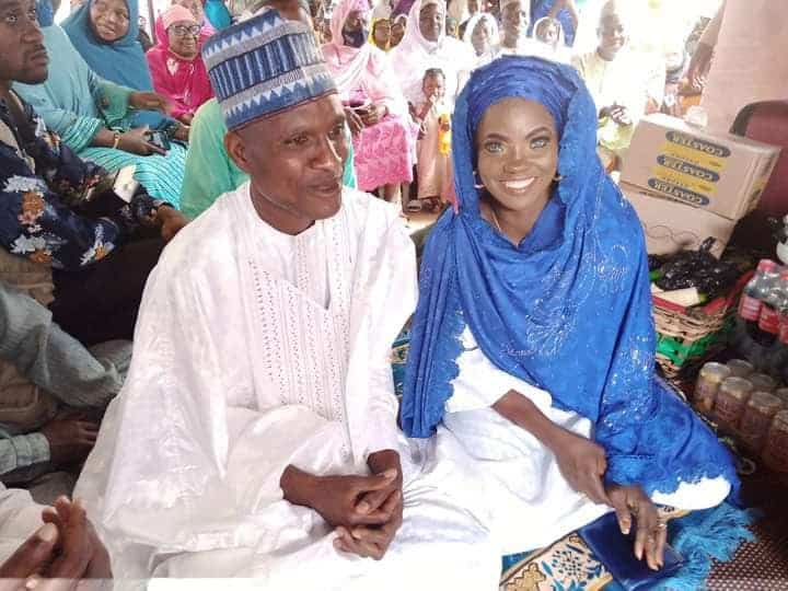 5f55489cbcce8 - Photos: Blue-Eyed Woman Marries Again In Kwara