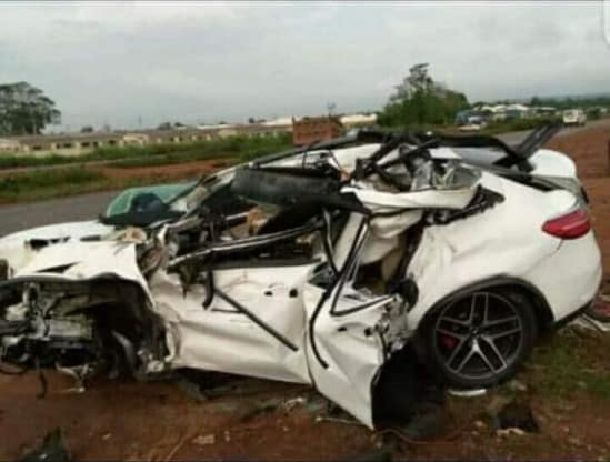Accident 1 - Man Dies In Ghastly Car Accident Three Days After His Wedding – [Photos]