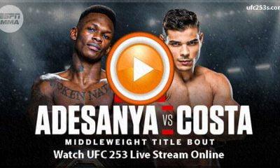 UFC 253: Live Stream Of Israel Adesanya Vs Paulo Costa Fight