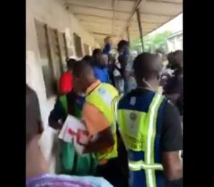 Edo APC Chieftain 300x262 - #EdoDecides: Video – Moments APC Chieftain Tried To Snatch Election Materials In Oredo