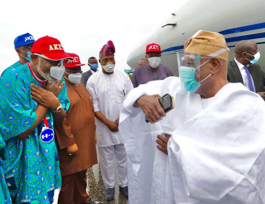 EhJX2I3X0AQmPbQ - Ondo 2020: Tinubu, Akande Storm Akure For APC's Akeredolu Campaign (Photos)
