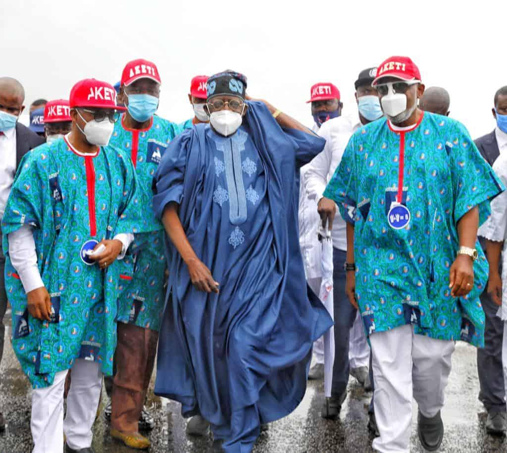 EhJX2khWsAAW37m - Ondo 2020: Tinubu, Akande Storm Akure For APC's Akeredolu Campaign (Photos)
