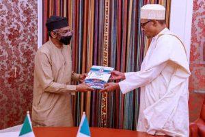 Gbajabiamila Buhari 300x200 - Maltreatment Of Nigerians: Buhari Gives Gbajabiamila Presidential Approval To Visit Ghana