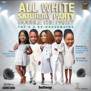 IMG 20200925 WA0019 300x298 - BBNaija2020 : Ex-Housemates Return For Saturday All White Party