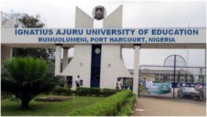 Ignatius Ajuru University of Education 1024x576 1 300x169 - Rivers: Undergraduate Gets Scholarship, N200,000 For Returning Lecturer's Lost Phone