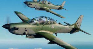 Nigerian Air Force 1024x540 1 300x158 - Nigerian Military Airstrikes Hit Bandits' Hideout, Kill Scores In Kaduna Forest (VIDEO)