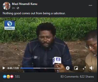 Biafra: Nnamdi Kanu Reacts To Murder Of Wanted Benue Gang Leader Gana