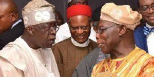 Obasanjo and Tinubu 300x150 - How Former President Obasanjo Helped Me Build Lagos – Bola Tinubu