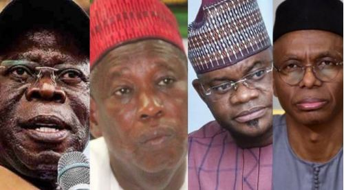 Nigerians React As Oshiomhole, Ganduje, Yahaya Bello Make US Visa Ban List