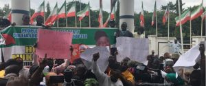 PDP members protest in Abuja 300x125 - PDP Members Protest In Abuja, Make Demand