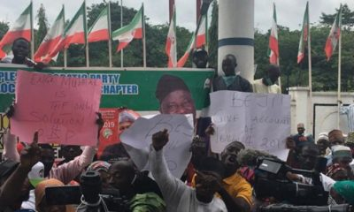 PDP Members Protest In Abuja, Make Demand