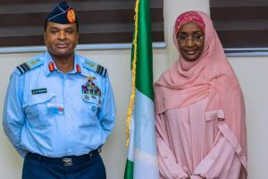 Sadiya and Chief Of Air Staff 300x200 - Buhari's Rumoured Mistress Sadiya Farouq 'Marries' Chief of Air Staff