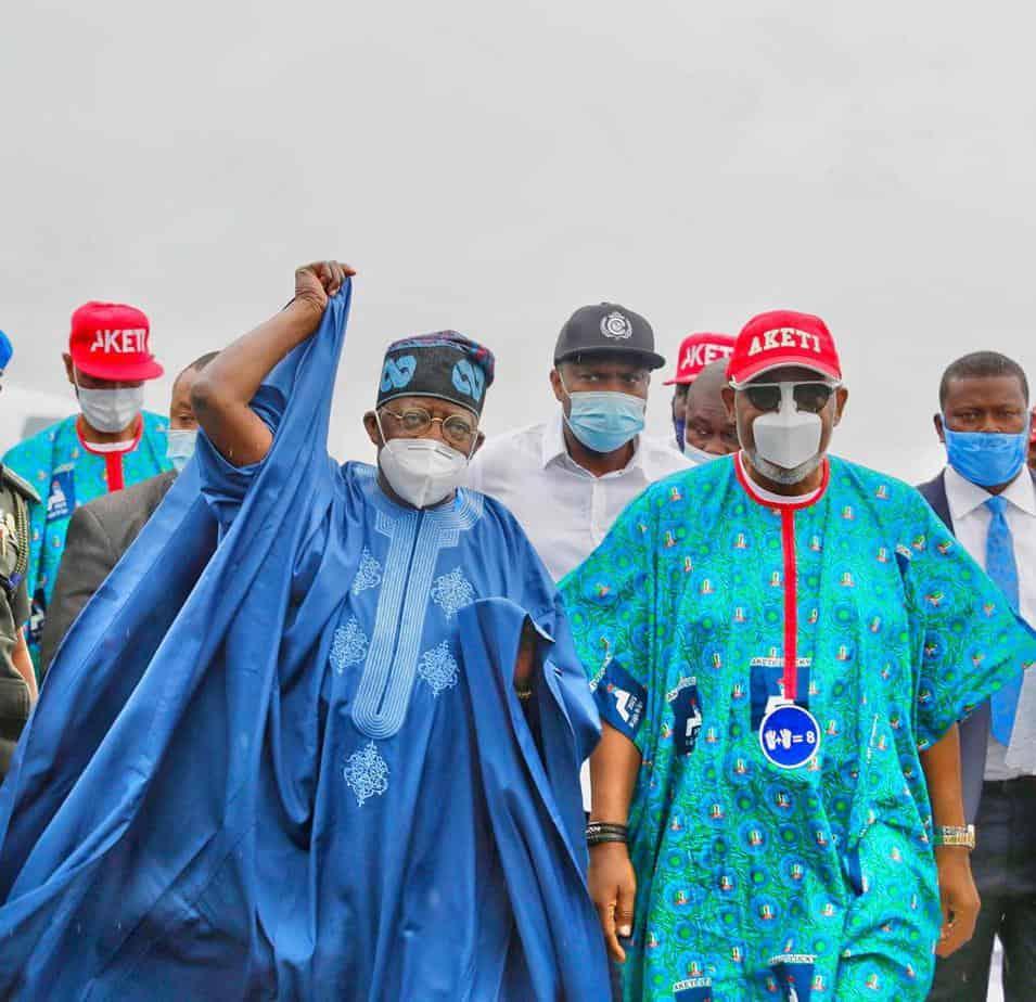 Tinubu and akeredolu campaign - Ondo 2020: Tinubu, Akande Storm Akure For APC's Akeredolu Campaign (Photos)