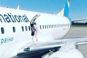 kiev plane 85 300x200 - An Ukrainian Mom Goes For Stroll on Airplanes Wing