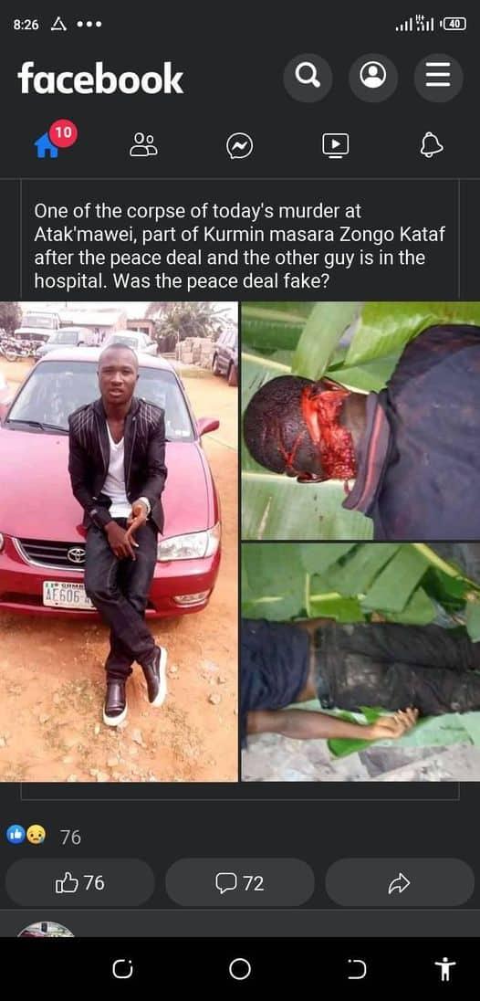militia - Southern Kaduna: Suspected Fulani Militia Hacks Poly Student To Death