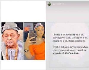 queen ola Alafin of oyo wife 300x237 - Has Alaafin Of Oyo's Wife, Queen Ola Allegedly Divorced Him ?