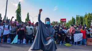 Aisha Yesufu EndSARS 300x167 - PSC Disagrees With Buhari's Minister, Says Police Behavior Cause Of #EndSARS Protests