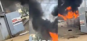 BREAKING TVC News on fire 300x142 - Important Places Burnt By Hoodlums In Lagos