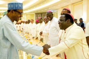 Buhari and Catholic Bishops in Nigeria 300x200 - Catholic Bishops Back #EndSARS Protests, Call 'Nigeria A Failing State'