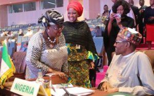 Buhari meets Okonjo Iweala 2 e1530483706239 504x315 1 300x188 - President Buhari Reacts As Okonjo-Iweala Finally Emerges WTO DG