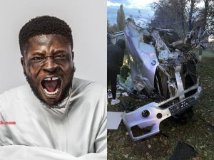 Crazy Clown Car Accident 300x225 - Nigerian Comedian, Crazy Clown Escapes Death In A Ghastly Motor Accident – [Photos]